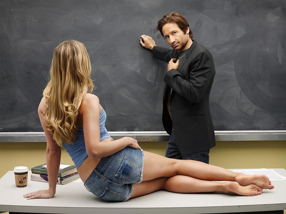 profesor y alumna